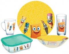Детский набор столовой посуды Luminarc Stationery из 5 предметов (P7866)