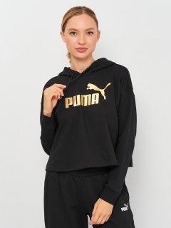 Худи Puma ESS+ Cropped Metallic Hoodie 58689101 XS Puma Black-GOLD (4063699348927)