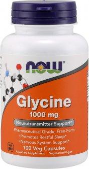 Аминокислота Now Foods Глицин 1000 мг 100 гелевых капсул (733739001078)