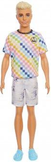 Кукла Кен Barbie Модник в клетчатой футболке (GRB90)