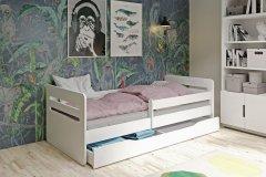 Детская кровать Kocot Kids Tomi с ящиком 160х80 см Белая (5903282012912)