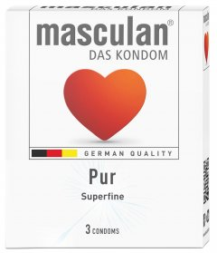 Презервативы Masculan Pur 3 шт (4019042000639)