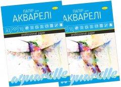 Набор бумаги для акварели Апельсин А3 2 пачки по 10 листов (ПА-А3-10-2)