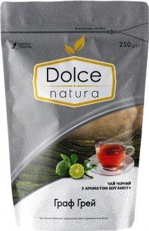 Чай черный байховый цельнолистовой Dolce Natura с ароматом бергамота Граф Грей 250 г (4820093482523)