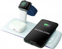 Беспроводное зарядное устройство Mission Wireless Dock N33 3 в 1 White (Mi-N33wh)