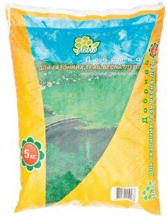 Удобрение минеральное гранулированное Florio ДЛЯ газонных трав весна-лето 5 кг (10506932)