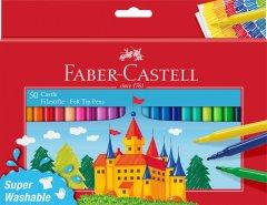 Фломастеры Faber-Castell Fibre-tip 50 цветов смываемые (4005405542045)