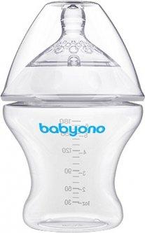 Бутылочка для кормления BabyOno антиколиковая Natural Nursing 1450 Прозрачная 180 мл (138793)