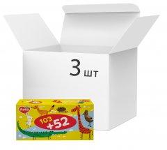 Упаковка салфеток косметических Ruta Kids 155 листов 2 слоя х 3 шт (4820023748422)