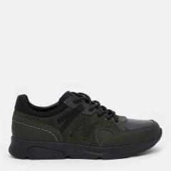 Кожаные кроссовки Konors 1215/3/7-71 39 25.5 см Темно-зеленые (KN2000000494449)