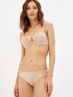 Бюстгальтер Calvin Klein Underwear Push Up Plunge QF5145E-7NS 32B Бежевый (8719853922729)