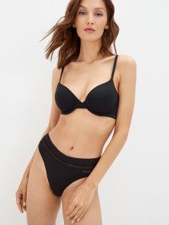 Бюстгальтер Calvin Klein Underwear Lightly Lined Demi QF9005E-UB1 32B Черный (8719853355299)