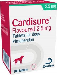 Ветеринарный препарат Dechra для собак с хронической сердечной недостаточностью Кардишур (пимобендан) 2.5 мг 100 таблеток (8714225163854)