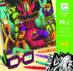 Набор для творчества Djeco с 3D эффектом Веселые монстры (DJ08651) (3070900086517)