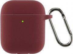 Чехол Armorstandart Ultrathin Silicone Case With Hook для Apple AirPods 2 Burgundy (ARM59680)