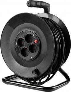 Сетевой фильтр Brille XK-4F/50Z BK 3x1.5 4 розетки Black (L100-023)