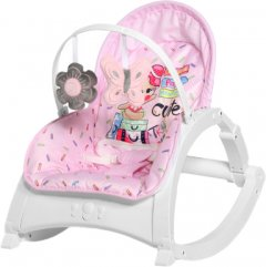 Шезлонг-качели Bertoni (Lorelli) Enjoy Pink Travelling (Bertoni ENJOY pink trave) (3800151978015)