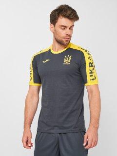 Футболка JOMA AT102362B159 XL Серо-желтая (8424309636937)