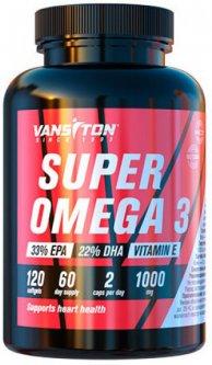 Жирные кислоты Vansiton SUPER OMEGA 3 120 капсул (4820106591990)