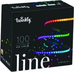 Светодиодная Smart LED гирлянда Twinkly Line RGB, подсветка плюс 1.5 м, Gen II, IP20, кабель черный (TWL100ADP-B)