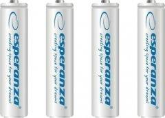 Аккумулятор Esperanza Ni-MH AAA 1000 мАч 4 шт Белый (EZA102W)