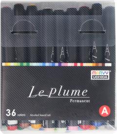 Набор меловых маркеров Marvy Le Plume Brush Классические оттенки 36 шт (0752481303698)