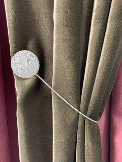 Магнит-подхват для штор Di&Di плетеный Круг Белый (ROZ6400064524)