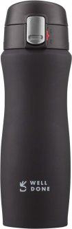 Термокружка вакуумная Well Done чёрный 0.42 литра (WD-7164B)