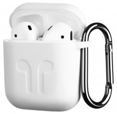 Чехол 2Е для Apple AirPods Pure Color Silicone Imprint 1.5 мм White (2E-AIR-PODS-IBSI-1.5-WT)