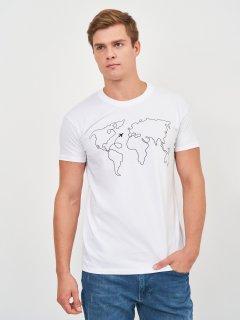 Футболка Sol's Imperial 190 World Map 11500102/104 M Белая