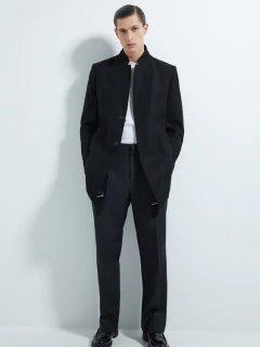 Пальто Zara 0706/590/800 L Черное (00706590800043)