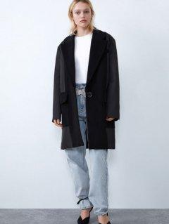Пальто Zara 1255/277/800 XS Черное (01255277800016)
