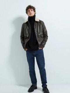 Куртка из искусственной кожи Zara 8281/305/700 S Коричневая (08281305700020)