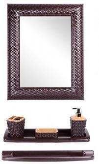 Набор для ванной VIOLET HOUSE Роттанг Coffee 0543