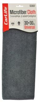Салфетка из микрофибры CarLife 30х30 см Серая (CC937)