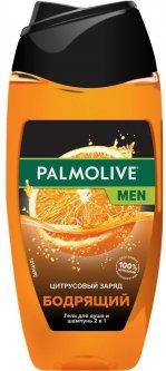 Гель для душа -шампунь Palmolive Men Цитрусовый заряд Бодрящий мужской 2 в 1 для тела, лица и волос 250 мл (8693495047364)