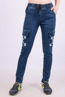 Жіночі джинси з бічними накладними кишенями KeNaLin 9514-7 27. Розмір 44-46