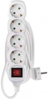 Сетевой удлинитель Emos P1423R 4 розеток 3 м 16А White