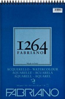 Альбомдля акварелиFabriano 1264А3 300г/м2на спирали30 листов (8001348212164)
