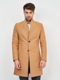 Пальто Zara 4092/585/704 M Светло-коричневое (04092585704035)