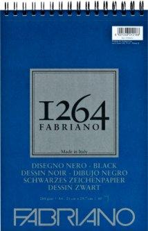 Альбомдля рисункаFabriano 1264А4 200г/м2на спирали40 листов Черный (8001348212188)