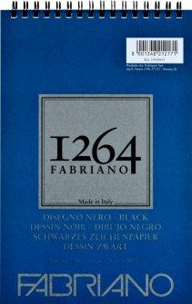 Альбомдля рисункаFabriano 1264А5 200г/м2на спирали20 листов Черный (8001348212171)