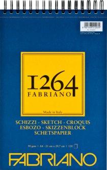 Альбомдля рисунка и эскизовFabriano 1264А4 90г/м2на спирали120 листов Слоновая кость (8001348212034)
