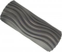 Массажный ролик USA Style LEXFIT валик 34х13 см Серый (LKEM-4013)