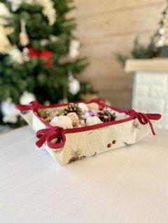 Корзинка Limaso гобеленовая для печенья и конфет 20х20x8 (ROZ6400053762)