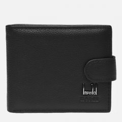 Мужской кожаный кошелек Laras K10023 Черный (ROZ6206118222)