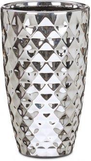 """Кашпо для цветов Scheurich Mirror Silver 25"""" керамика Зеркальный (4002477622231)"""