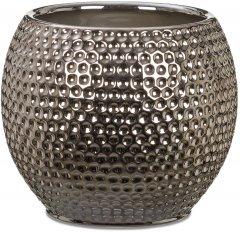 """Кашпо для цветов Scheurich Mercury 15"""" керамика Серебристо-черный (4002477622170)"""
