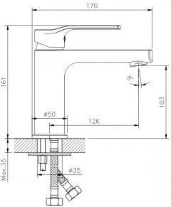 Смеситель для раковины KOLLER POOL Stream ST0200