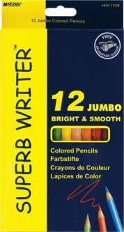 Карандаши цветные Marco Jumbo Superb Writer с точилкой 12 цветов (4400-12CB)